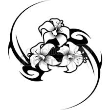 royalty free hibiscus flower tattoo tribal design 377653 vector