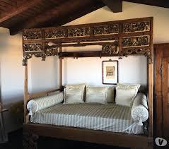letto a baldacchino antico letto etnico a baldacchino indonesiano antico in vendita pavia