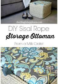 Upcycle Ottoman Diy Sisal Rope Storage Ottoman Hometalk