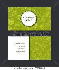 Farm Business Card Vector Business Cards Elegant Design Background Stock Vector