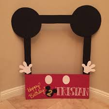 mickey mouse photo booth diy cardboard photo frame for mickey mouse clubhouse party