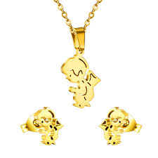 angel necklace pendant images Adorable angel earrings with necklace pendant free chain sets jpg