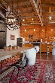 fair industrial brick kitchen come with orange color bricks wall