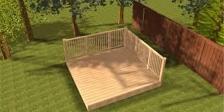 deck kit 4 western red cedar 3m x 3m garden patio deck kit with