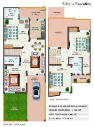 In Ground House Plans House Plan Drawings 5 Marla Escortsea