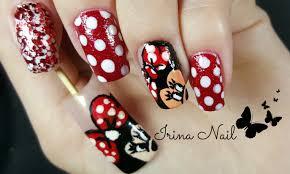 minnie mouse nail art irina nail youtube
