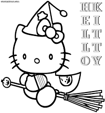 hello kitty halloween coloring pages coloring pages to download