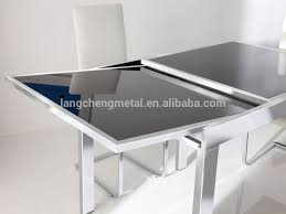 Retractable Dining Table Furniture Heavy Duty Spring Telescopic Dining Table Extension