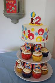 curious george cakes curious george cake and cupcake tower birthday cakes