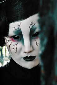 seriously freaky make up with full eye cover contact lenses the crow by nyneve amazing make up makeup inspiration contours and