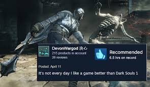 Funny Dark Souls Memes - the 10 funniest dark souls 3 early steam reviews dorkly post