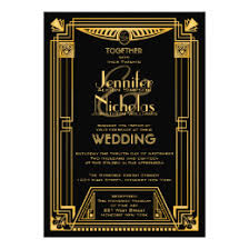 gatsby wedding invitations great gatsby wedding invitations announcements zazzle co uk