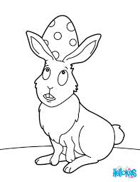 easter bunny and egg coloring pages hellokids com
