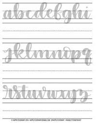 free brush calligraphy practice worksheets calligraphy practice