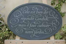 Garden Wall Plaque by Letter Carving For The Home And Garden 10 Beautiful Designs