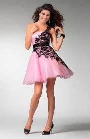 pink black and white homecoming dresses prom dresses cheap