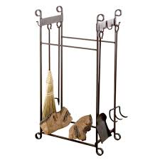 fireplace tools and log holder inspirational home decorating
