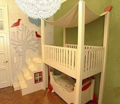 Crib Bunk Bed Bunk Bed With Crib On Bottom