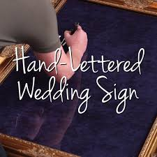 Chalkboard Wedding Sayings Creating A Calligraphy Stencil For Wedding Signs Mephal This