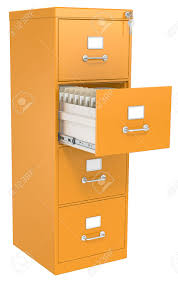 Filing Cabinets With Lock by Orange File Cabinet Open Drawer With Files Lock And Key Stock