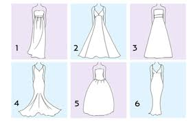 wedding dress type wedding dress silhouette guide type of the dresses