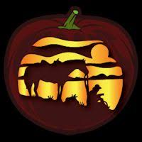 cowboy and his horse co stoneykins pumpkin carving patterns and