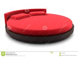 Circle Bed Red Round Bed Isolated On White Stock Illustration Image 16792826