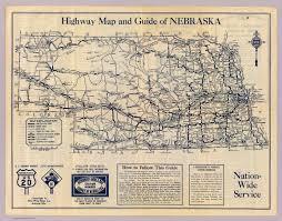 Nebraska Map Nebraska Highway Map David Rumsey Historical Map Collection