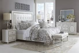 3 Piece White Bedroom Set Sky Tower Bedroom Set White Cloud By Michael Amini Bedroom