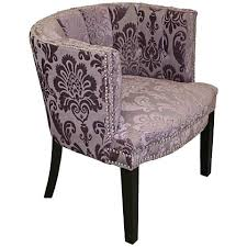 damask chair bohemian rich black plum fan damask fabric barrel chair 11n66