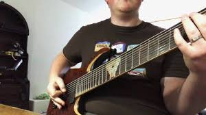 9 string fanned fret waghorn guitars corax w9 fanned fret 9 string guitar with axe fx