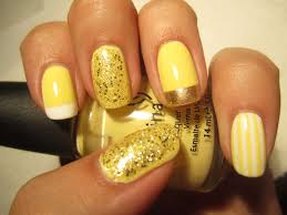 primrose nail art with stripes and glitter one1lady com