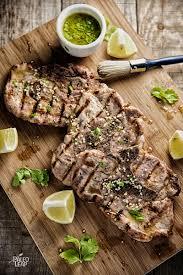 pork chops with lemon cilantro vinaigrette paleo leap