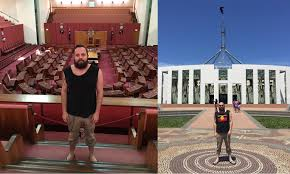 Indigenous Flags Of Australia Apology From Parliament House To Man Who Was Asked To Turn