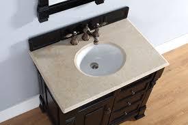 36 inch finish single sink traditional bathroom vanity