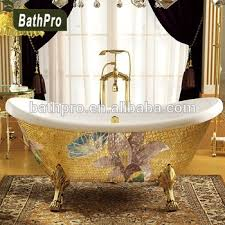 acrylic gold freestanding portable bathtub for sale with four