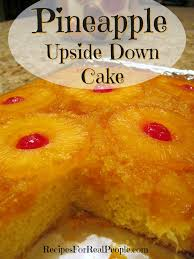 recipes for real people pineapple upside down cake