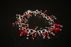 red charm bracelet images Funky stylish and glamourous custom made jewellery made to order JPG