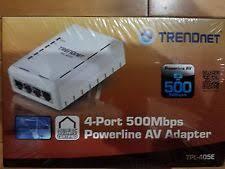 tpl 4052e trendnet tpl 405e 4 port powerline av adapter up to 500mbps ebay