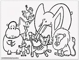 free preschool coloring pages zoo animals elephant preschool
