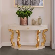 Ivory Console Table High End Modern Demi Lune Ivory Console Table Juliettes Interiors