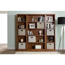 sauder premier 5 shelf composite wood bookcase south shore morgan royal cherry open bookcase 10150 the home depot