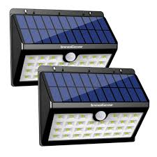 Solar Powered Address Light by Innogear Upgraded Solar Lights 30 Led Wall Light Outdoor Security