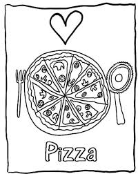 love pizza coloring pages of food foods coloring pages of