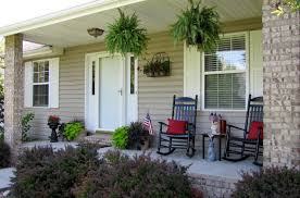 Porch Planter Ideas by Front Porch Inspiring Front Porch Design With Black Rocking Chairs