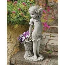 garden statues fountains wall sculpture yeti fisherman