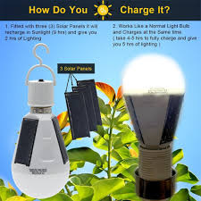 how emergency light works indoor garden hiking cing solar panel powered led bulb portable