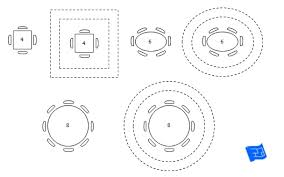 10x10 dining room round table soze room size