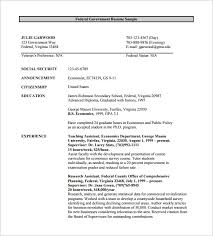Resume Pdf Template Federal Government Resume Template Federal Resume Template 10 Free