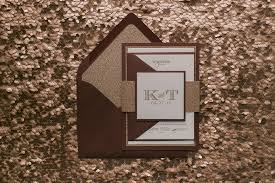 Wedding Invitations Kerry Metallic Gold